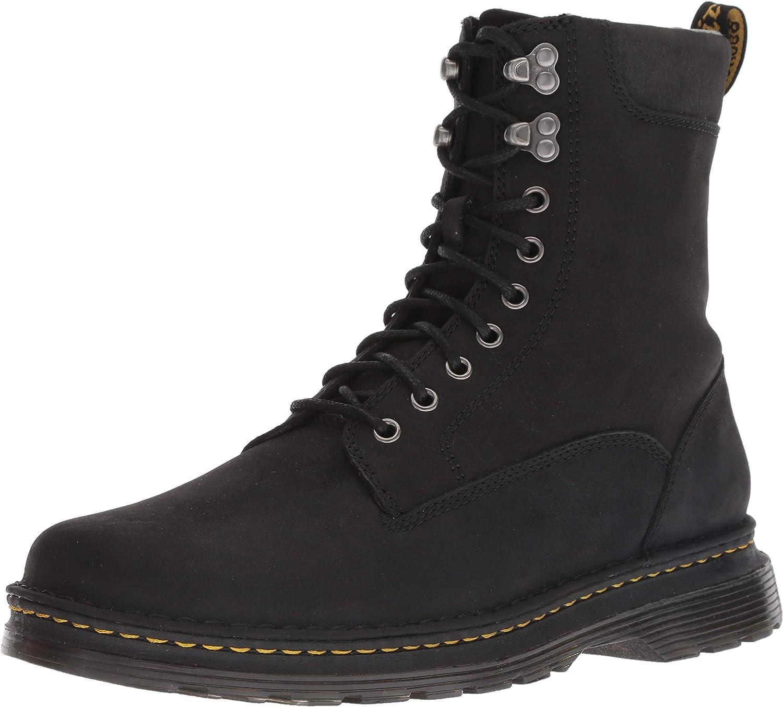 Dr. Martens Men's Vincent Hook Mid Calf Boot, Black, 7 M UK (8 US)