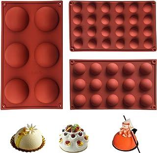 Chocolate Silicone Mold, Hemispherical Silicone Baking Mold Set, Hemispherical Silicone Mold for Making Chocolate,6/15 /24...