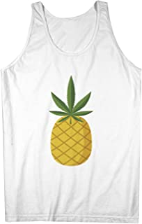 Pineapple Double Meaning 420 皮肉な おかしいです 男性用 Tank Top Sleeveless Shirt