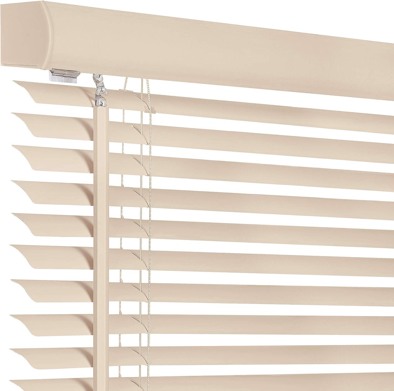 64-Inch Length x 35-Inch Widht Achim Home Furnishings Cordless Light Filtering Mini Blind Black