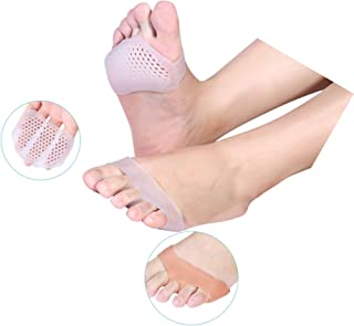 JZZJ 2 Pairs Metatarsal Pads Breathable Ball of Foot Cushions Gel Forefoot Pad Toe Separator Cushion Metatarsal Pads for Women and Men by