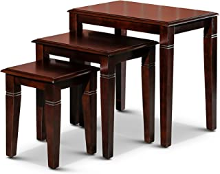 DTY Indoor Living Golden 3-Piece Nesting Table Collection...