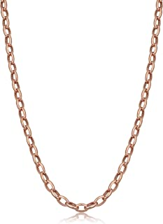 14k Gold 4.6mm Hollow Rolo Link Chain Necklace (yellow or white)