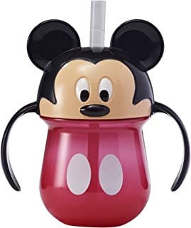 The First Years Mickey Baby Trainer Straw Cup with Handles, 7 Ounce
