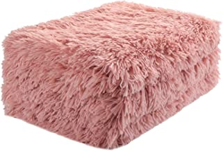 UEEE Super Soft Shaggy Warm Plush Throw Blanket Fluffy Long Faux Fur Decorative Blankets for Couch Bed Chair Photo Props Dirty Pink(51
