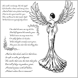 Angel Wing Clear Stamps for Card Making Decoration and Scrapbooking Rubber Stamp