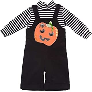 Baby Boy Halloween Pumpkin Overalls (3m-12m)