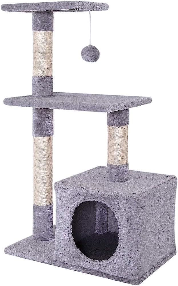 Dibea, gioco per il gatto,albero tira graffi, 85 cm KB00253