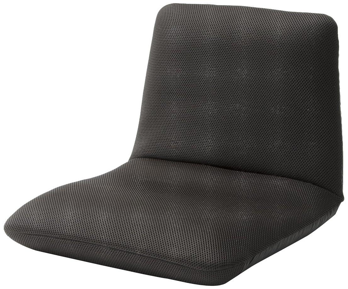 ルーム穴ペックセルタン 座椅子 和楽チェア Sサイズ メッシュダークブラウン 背筋ピン 背部リクライニング 日本製 A455a-349DBR