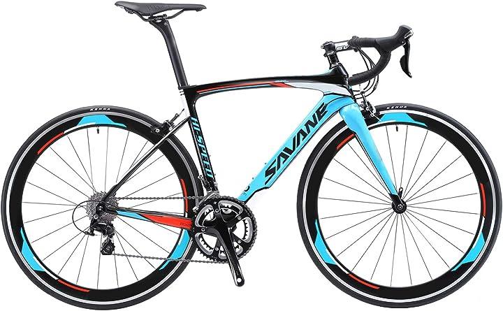 Bici da corsa - cambio shimano 105 r7000 22 velocità bicicletta ultralight - savadeck warwind5.0 700c SVRB0008-IT