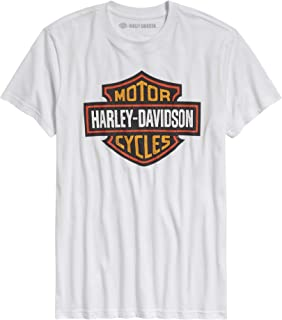 HARLEY-DAVIDSON Official Men's Logo Slim Fit Tee, White