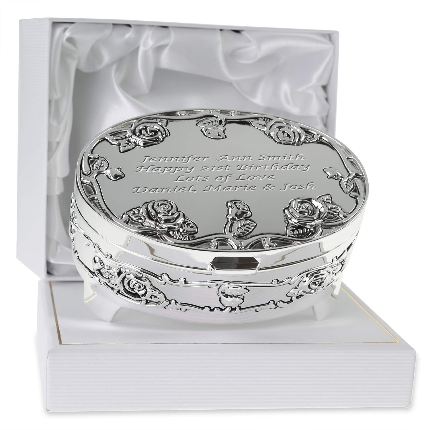 De Walden Girlu0027s 21st Birthday Gift Engraved Silver Plated Rose Trinket Box in a Presentation Box  sc 1 st  Amazon UK & Daughter 21st Birthday Gifts for Her: Amazon.co.uk