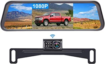 $99 » DoHonest S4 HD 1080P Digital Wireless Backup Camera Kit, License Plate Rear View Hitch Camera with 5'' Mirror Monitor for ...