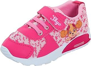 Paw Patrol Zapatillas deportivas para niñas con luz para niños pequeños y bebés, luces intermitentes, primeros zapatos