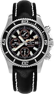 Superocean Chronograph II Automatic Black Dial Black Leather Mens Watch A13341A8-BA85BKLT