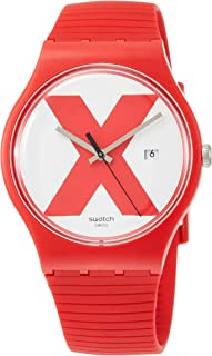 Swatch Men's XX-Rated Red SUOR400 Silicone Swiss Quartz Fashion Watch