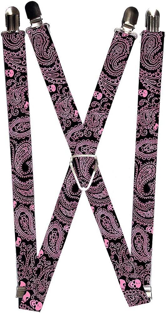 Buckle-Down Suspender - Paisley Skulls