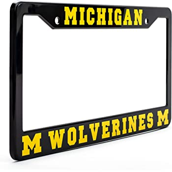 Car Auto Truck ET2 Michigan Wolverines Alumni Metal License Plate Frame New