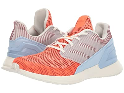 adidas Kids RapidaRun Knit (Big Kid) (Off-White/Hi-Res Coral/Maroon) Boys Shoes