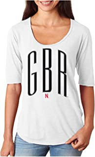 CornBorn 10+ Husker Graphics (You Choose) - Premium Tri-Blend 1/2 Sleeve Scoop Neck Tee Shirt