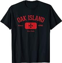 Oak Island Knights Templar Cross Design Gift T-Shirt - Red