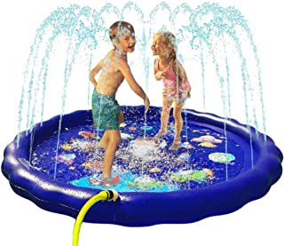 "Generies Splash Pad, 68""Kids Sprinkler Pad for Toddlers Children Boys and Girls, Inflatable Water Toys Fun for Outdoor"