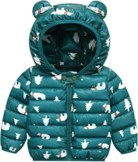 Baby Cotton Puffer Coat Light Puffer Hooded Jacket Outwear Age 1-5T
