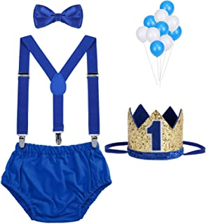 Baby Boys First Birthday Cake Smash Outfit Bow Tie...