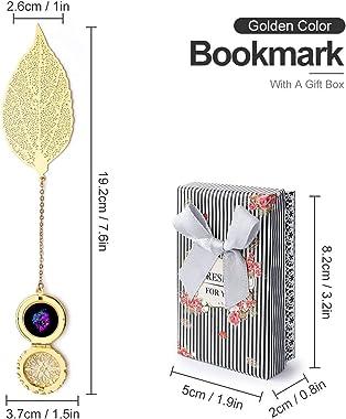 Jotaro Kujo Soul Jojos Bizarre Adventure Vintage and Beautiful Leaf Bookmarks, Metal Leaf and Exquisite Pattern Pendants