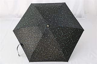 AUWANGAOFEI Small Fresh Sweet Vinyl Folding Pocket Umbrella Sun Shade Umbrella (Color : Black, Size : 93cm)