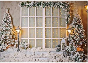 Funnytree 7x5FT Christmas Winter Photography Backdrop Snow Pine Tree Decoration Xmas Indoor Set Background Photo Booth