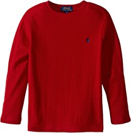 Polo Ralph Lauren Kids - Waffle-Knit Cotton T-Shirt (Little Kids/Big Kids)