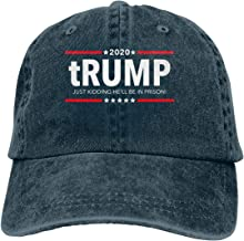 Trump 2020 - Just Kidding He'll Be in Prison! Mans Baseball Cap Dad Hat