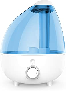 Pure Enrichment MistAire XL Ultrasonic Cool Mist Humidifier for Large Rooms - 1 Gallon Water Tank with Variable Mist Control, Automatic Shut-Off and Optional Night Light - Lasts Up to 24 Hours
