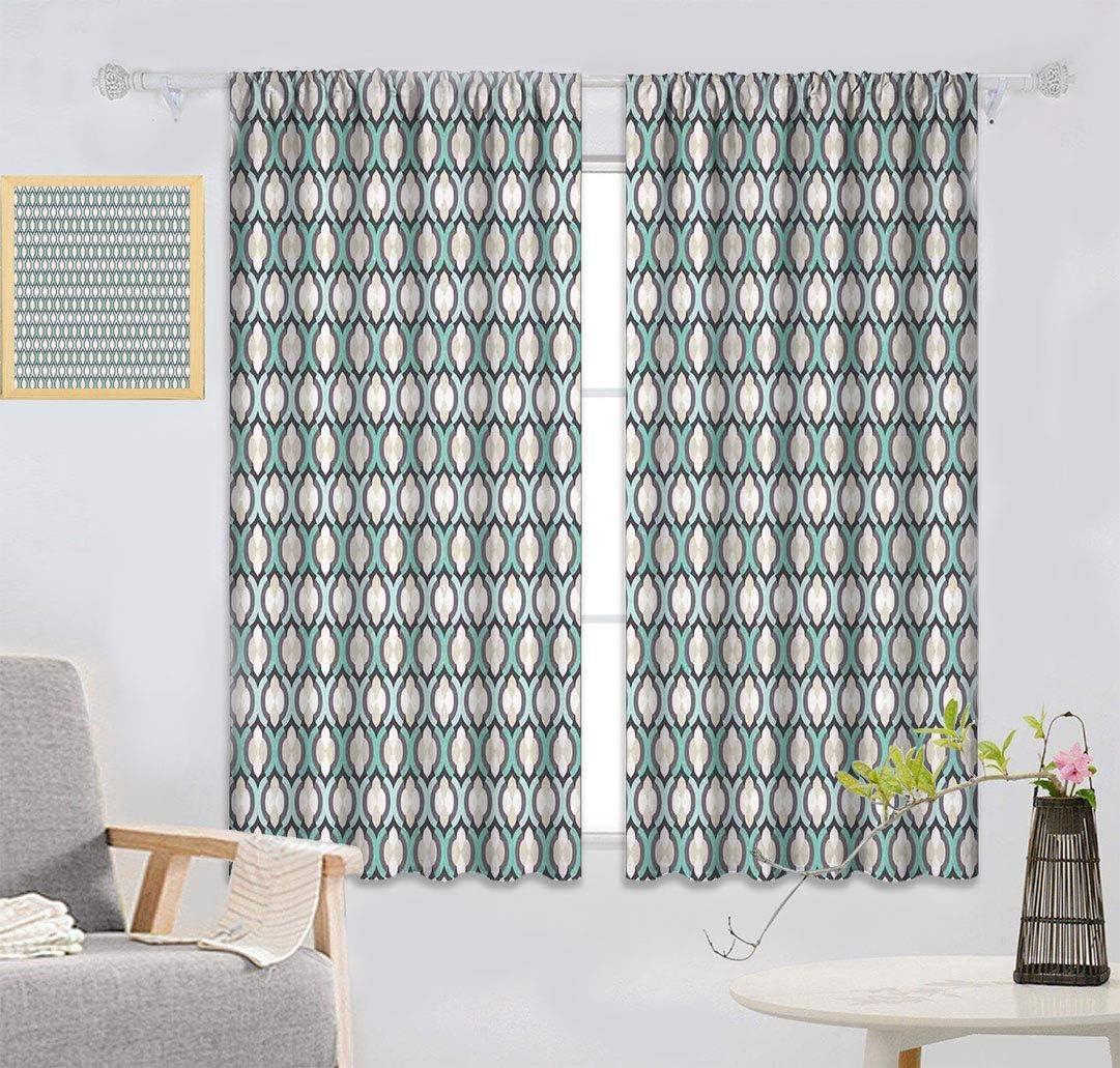 トラスト Folk Energy Efficient Curtain Abstract Pattern 新色 Inspired Mosaic