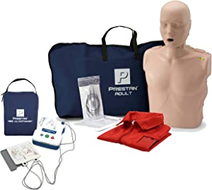 CPR Adult Manikin with Feedback Prestan AED UltraTrainer, and MCR Accessories
