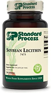 Standard Process Soybean Lecithin - Whole Food Cognitive Health, Brain Health and Brain Support, Liver Support with Soybea...