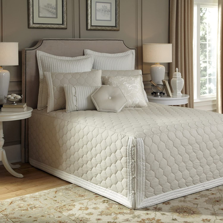 Nostalgia Home Lexington Bedspread, Queen, Taupe