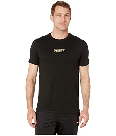 PUMA Graphic Logo No.2 Tees (Cotton Black) Men
