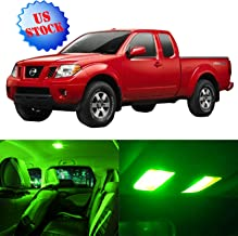 SCITOO LED Interior Lights 9pcs Green Package Kit Accessories Replacement for 1999-2004 Nissan Frontier