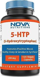 Nova Nutritions 5-HTP 200 mg 120 Veggie Capsules - 5-HTP promotes healthy sleep