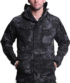 Minghe Army Coat Men Windproof Waterproof Tactical Windbreaker Jacket with Hood