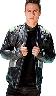Men's Soldier 76 Green Leather Jacket (X-Small)