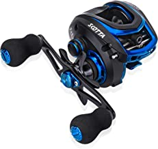 Goture Saltwater & Freshwater Baitcasting Reel with 7.1:1 Gear Ratio– 7+1BB Low Profile Left Hand/Right Hand Bass Fishing Reel with Magnetic/Dual Bakes Drag System - Max Drag Up to 17.64LB