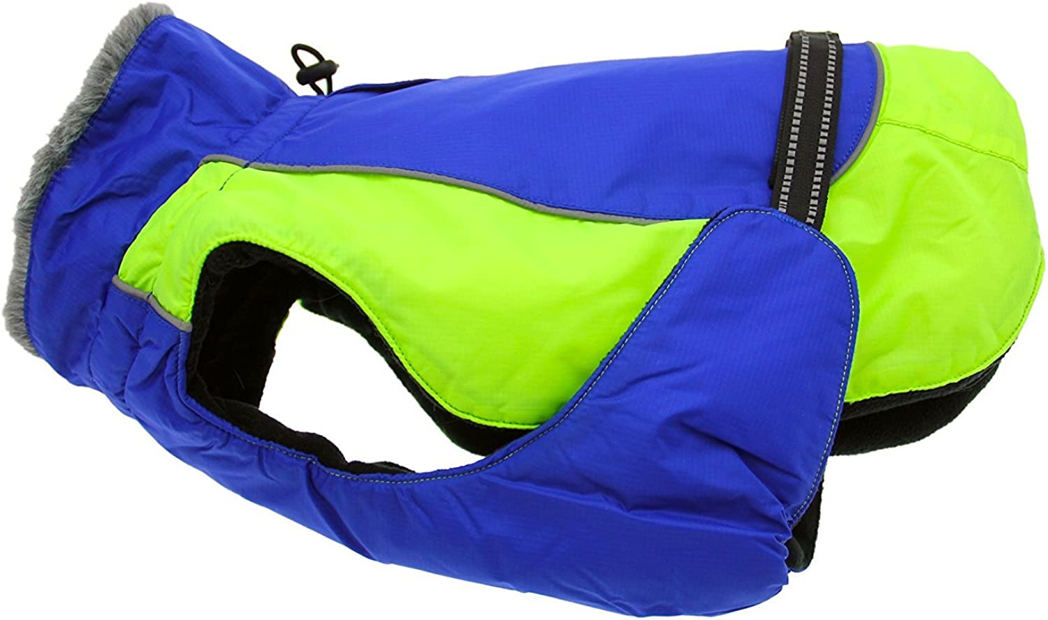Doggie Design Alpine All Weather Dog Coat  bluee and Green Medium