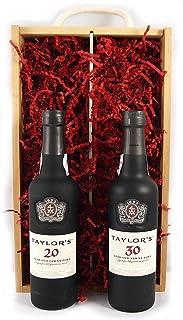"""Taylor""""s 50 years of Port 1970 37.5cl in einer Geschenkbox. Da zu vier Wein Zubehör, Korkenzieher,Giesser,Kapselabschneider,Weinthermometer 2 x 375ml"""