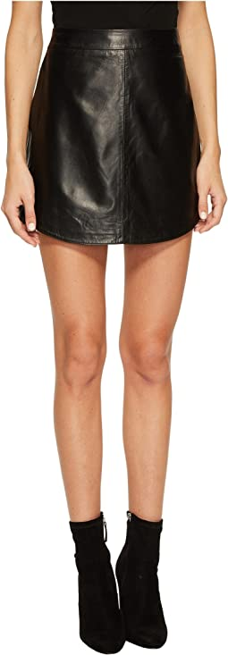 BB Dakota - Conrad Leather Mini Skirt