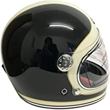 M Nero Opaco Visiera Scendete VIPER RS-V06 Moto Jet Casco Aperto del Fronte Moto Touring Caschi