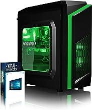 VIBOX FX-142 - Ordenador de sobremesa Gaming (USB, AMD, RAM de 16 GB, Disco Duro de 1 TB, 3.5 GHz, Windows 10 Home) Color Verde