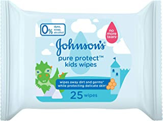 JOHNSON'S Kids Wipes - Pure Protect, Pack of 25 wipes